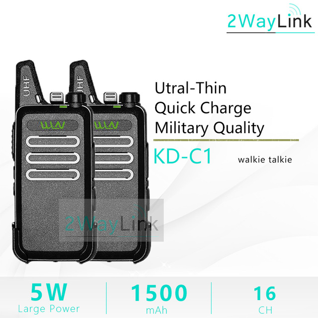 2 قطعة WLN KD C1 راديو صغير 5 واط اسلكية تخاطب UHF اتجاهين أجهزة الراديو RT22 ZT X6 مفيد صغير 5 واط لحم الخنزير راديو KD C2 ترقية الإصدار رخيصة الساخن