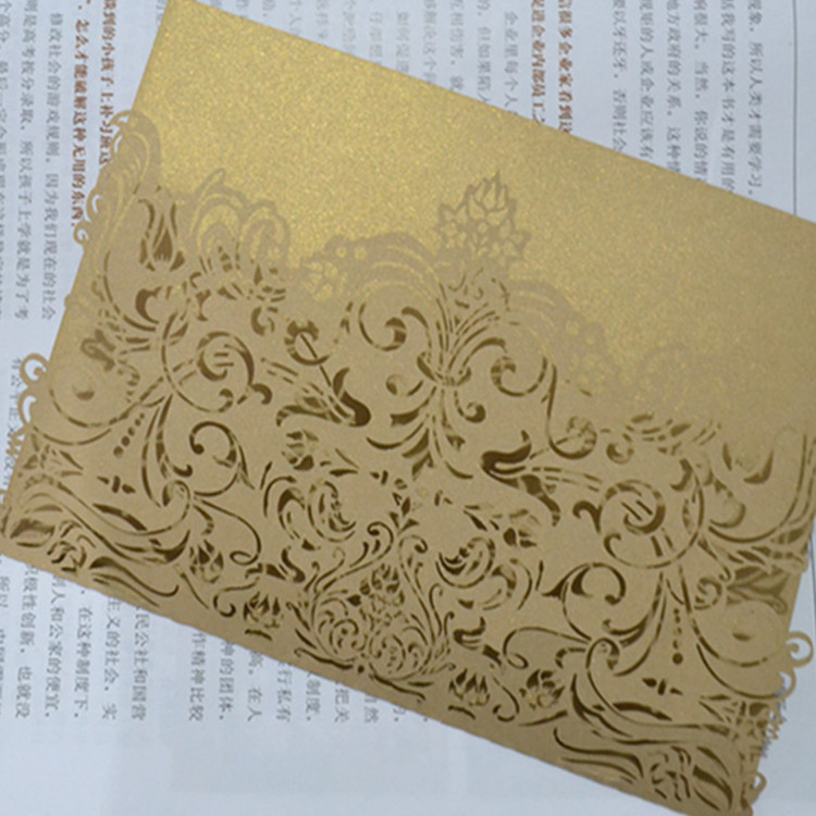 50pcs hot sale half card design wedding party decoration paper craft ...