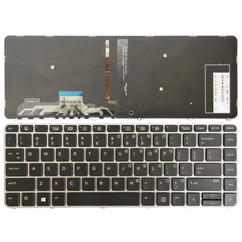 цена на US Laptop Keyboard for HP for EliteBook Folio 1040 G3 English keyboard silver frame with backlit