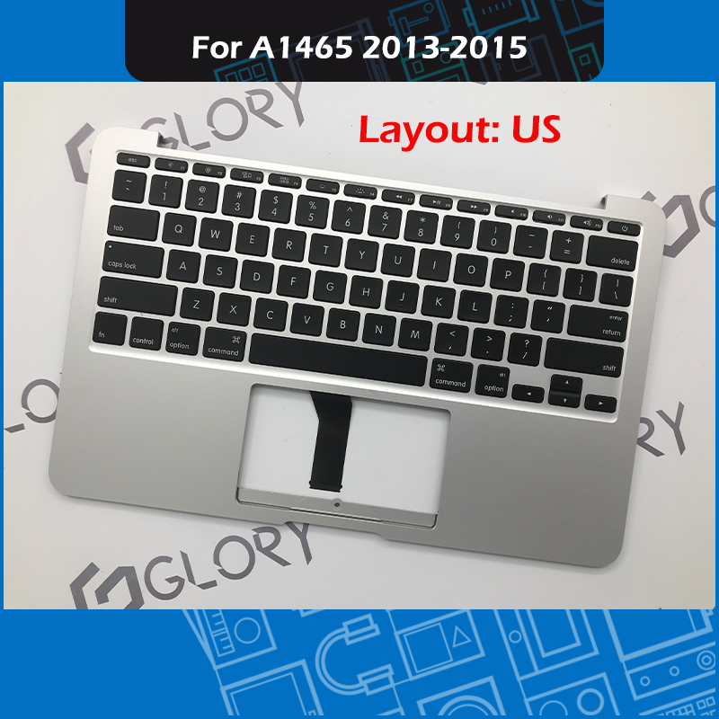 Laptop Topcase with US keyboard For Macbook Air 11 A1465 Top Case Palmrest Replacement EMC 2631