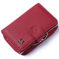 צ 'יאן Xi Lu ארנקי הארנקים של נשים Cortex רוכסן ובריח (אדום) 12.5*8.5*4 ס
