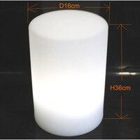 D16 * H36cm 16 Farbe Charnging Zylinder Mini Säule LED Stehtisch lampe Nachtlichter mit Fernbedienung für Kaffee Bar Party 10 stücke