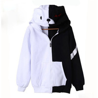 New Anime Danganronpa Trigger Happy Havoc Cute Hoody Autumn Spring Cotton Casual Black White Hoodie Cosplay Japanese Clothes