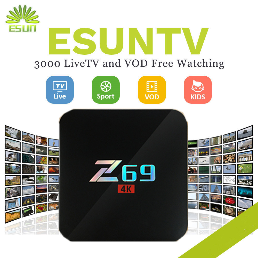 Consumer Electronics Tv Receivers Sweet-Tempered Z69 With 1 Year Esuntv 4000+europe Iptv Arabic Spain Uk French Germany Italy Netherland Sweden Portugal Ex-yu Xxx Usa With Vod Relieving Rheumatism