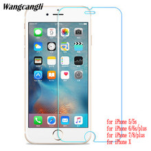 Verre pour iphone 5s verre trempé protection pour iphone 5 5c se 6 6s 7 8 x plus film étui pour iphone 5 s 5c verre trempé hd(China)