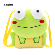KAKOO Cute 3D cartoon animal frog shoulder bag Plush Cartoon Kids Baby Coin Purses Children Mini Shoulder Messenger Bag