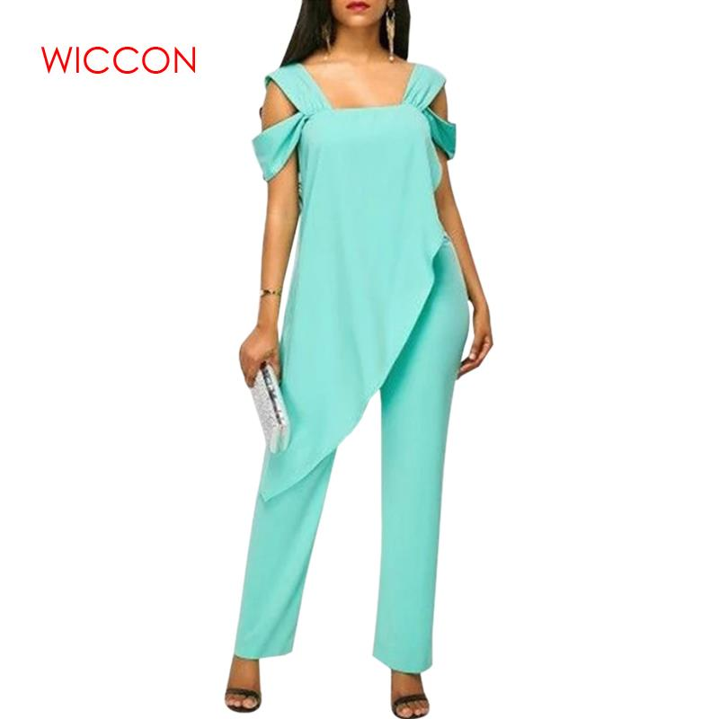 Women's Fashion High Waist Slim Sleeveless   Jumpsuits   Casual Irregular Pencil   Jumpsuit   Rompers Plus Size 5XL