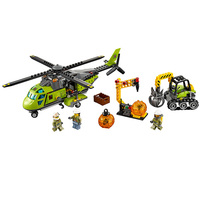 gifts Bela 10641 City Volcano Supply Helicopter Geological Prospect Building Blocks Bricks Action Figures Compatible Legoe Toys