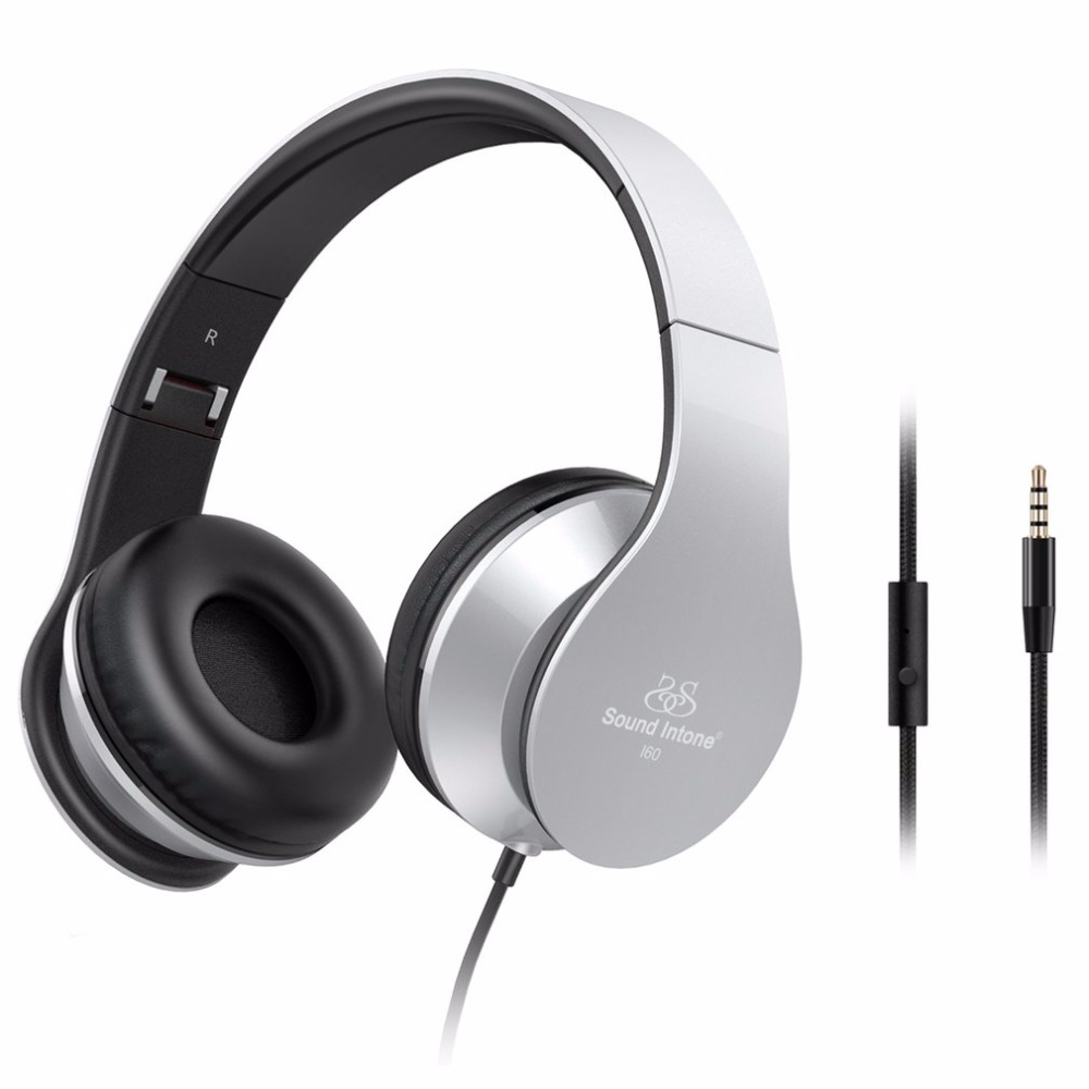 Sound Intone Bluetooth Wired Headphones Stereo Portable Headsets with Microphone Foldable Earphones for Phone Computer sound intone c18 adjustable over ear headpones wired hifi sound stereo headsets with microphone for phone music computer gaming