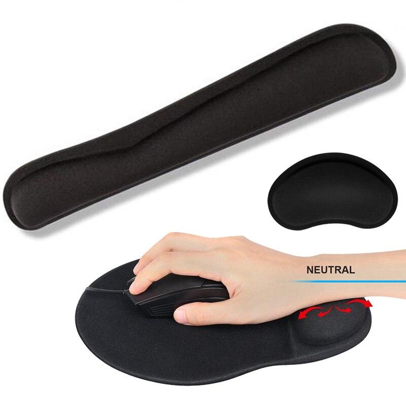Wrist Rest Mouse Pad Non-Slip Base Superfine Fibre Memory Foam Wrist Rest Pad Ergonomic Mousepad For Office Gaming Laptop PC