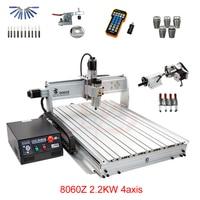 LY 8060Z USB 4 axis 2.2KW with mach3 remote control mini CNC milling machine free tax to RU