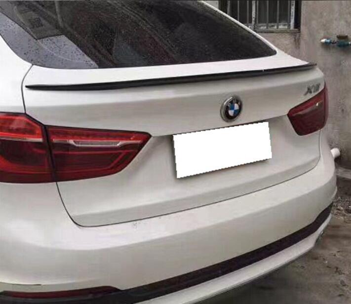 JIOYNG VERNICE ABS e Fibra di Carbonio AUTO ALA POSTERIORE TRONCO SPOILER PER per 14-18 BMW F26 X4 2014 2015 2016 2017 2018 DALLO SME (3 STYLE)