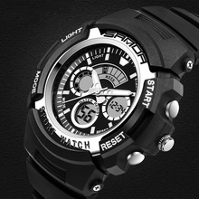 цена на Simple Digital Watch Stopwatch Alarm Electronic Clock Dual Time Reloj Waterproof Sport Watch Men Fashion Back Light Montre Homme