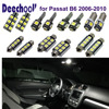 Deechooll 16pcs Car Error Free LED Bulbs For Volkswagen VW Passat B6 LED Interior Light Kit