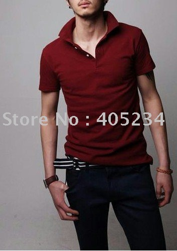 Men's high quality polo t shirt   Free shipping