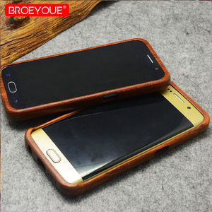 Image 5 - Full Wood Case For Samsung Galaxy S6 S7 S8 S9 Edge Plus 100% Retro Nature Bamboo Case For Samsung Galaxy Note 8 9 For iPhone XR
