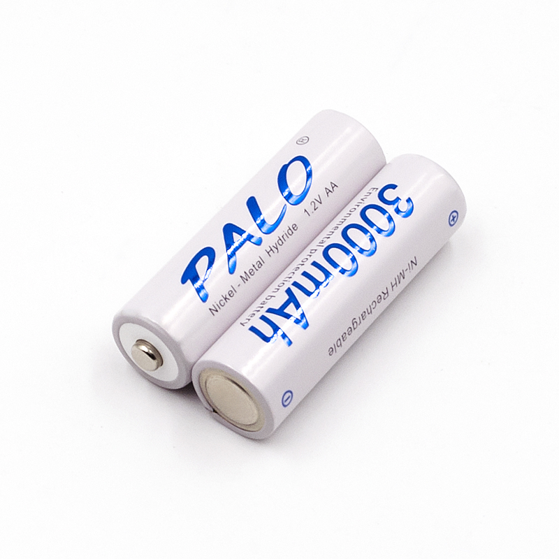 8 X PALO Battery 3000mAh 1.2v NI-MH AA rechargeable battery for LED light Toy battery for camera MP3 mp4 microphone