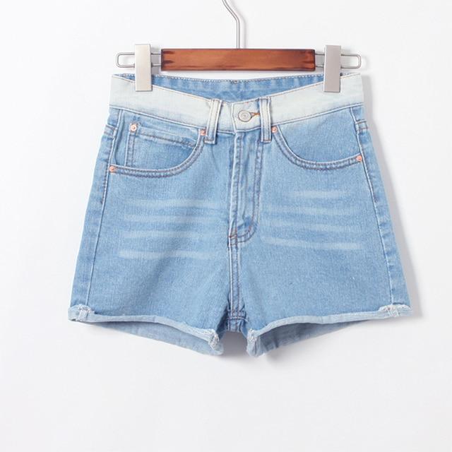 Pantalones Vaqueros cortos de Las Mujeres Del Estilo Coreano Ocasional de  Cintura Alta Corto Breve Vintage 3df2a700818a