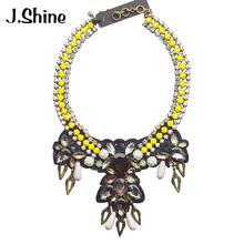 JShine Big Brand Jewelry Choker Statment Necklace Women 2018 Fashion Collares Maxi Necklace Handmade Jewelry Bijoux Femme(China)