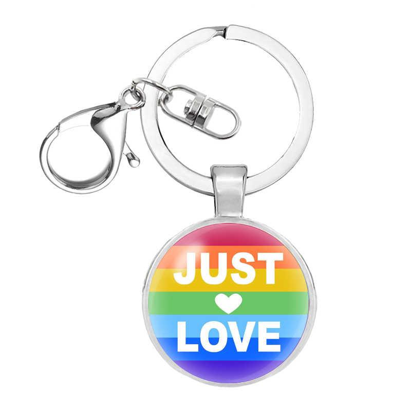 SZ Cầu Vồng niềm tự hào đồng tính Keyring Key Lgbt niềm tự hào đồng tính nữ quà tặng mặt dây chuyền Vòng Keychain Chaveiro Quà Tặng Lưu Niệm Llaveros đồ trang sức