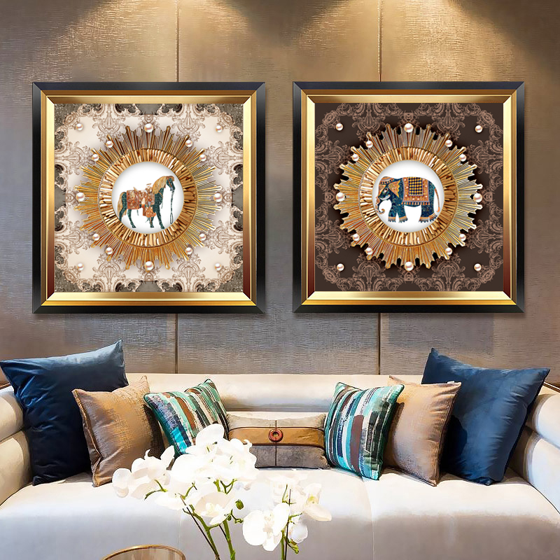 European Luxury DIY Cross Stitch Decorative Painting Horse/elephant/deer Printed Patterns Sets For Embroidery Cross-stitch Kits