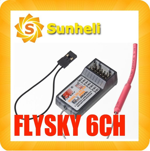 10PCS FlySky 2.4Ghz 6CH receiver FS-R6B R/C CT6B TH9x  rc 3ch 8ch remote control free shipping