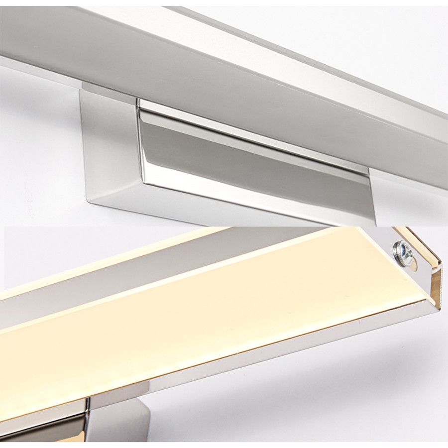 Thrisdar 9W 12W Anti-fog Acrylic Bathroom Mirror Light Waterproof Vanity LED Bathroom Wall Lamp Bedroom Aisle Sconce Fixture