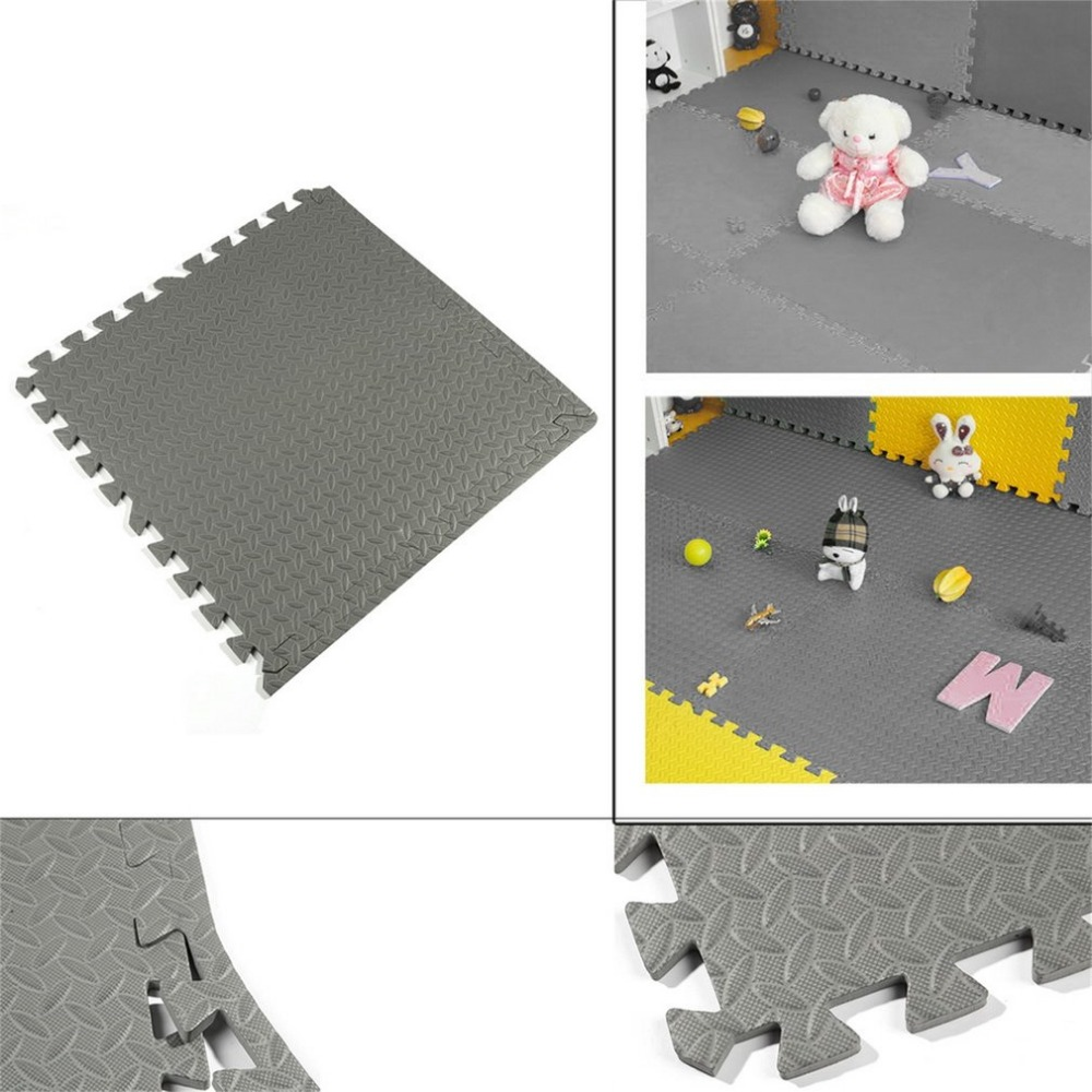 Pieces interlocking eva foam mats room garage gym floor