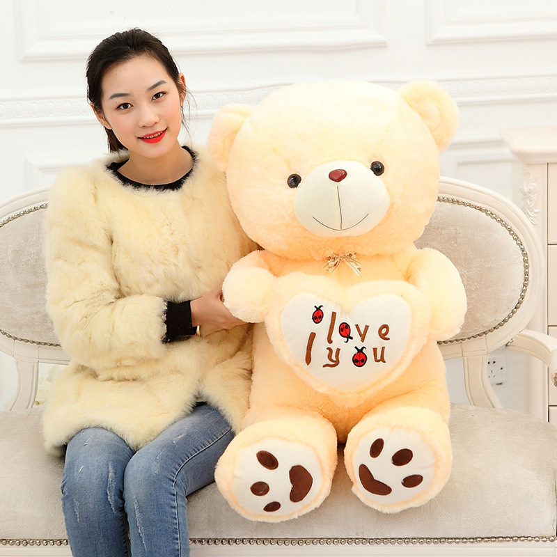 Image 2 - Cheap 50CM 70CM 90CM Teddy Bear Bears Embrace Giant Big Toys Doll Stuffed Plush Animals I love You Doll Valentine Gift for girl-in Stuffed & Plush Animals from Toys & Hobbies