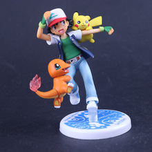 GEM Anime Game Pokemon Go Satoshi Charizard Hitokage Pikachu Action Figure Toys For Children G.E.M. Jguetes Brinquedos Kid
