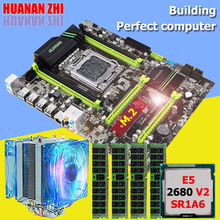 цена на Brand motherboard with M.2 slot HUANAN ZHI X79 motherboard CPU RAM set CPU Intel Xeon E5 2680 V2 SR1A6 RAM 32G(4*8G) 1600 RECC