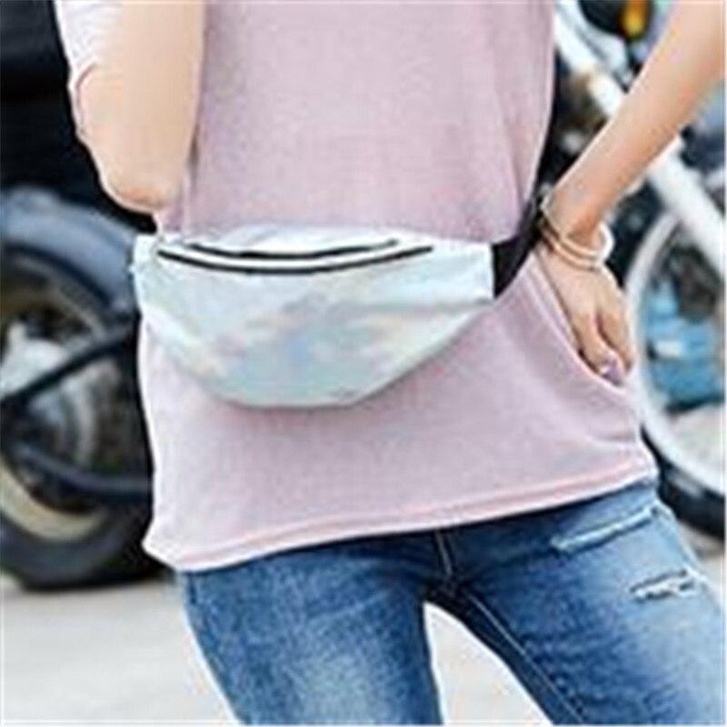 Sequin Women Waist Bag Fanny Pack Running Zip Belt Clutch Purse 2019 Money Pouch Holiday Bag Black Gold Pink Purple Silver