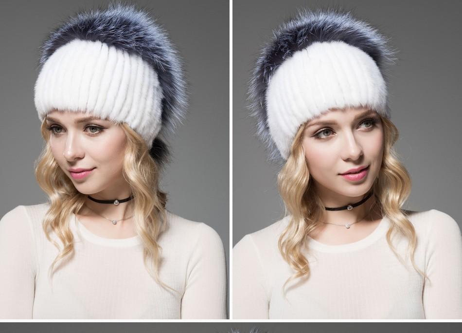 fur woman winter hats PCM012 (9)