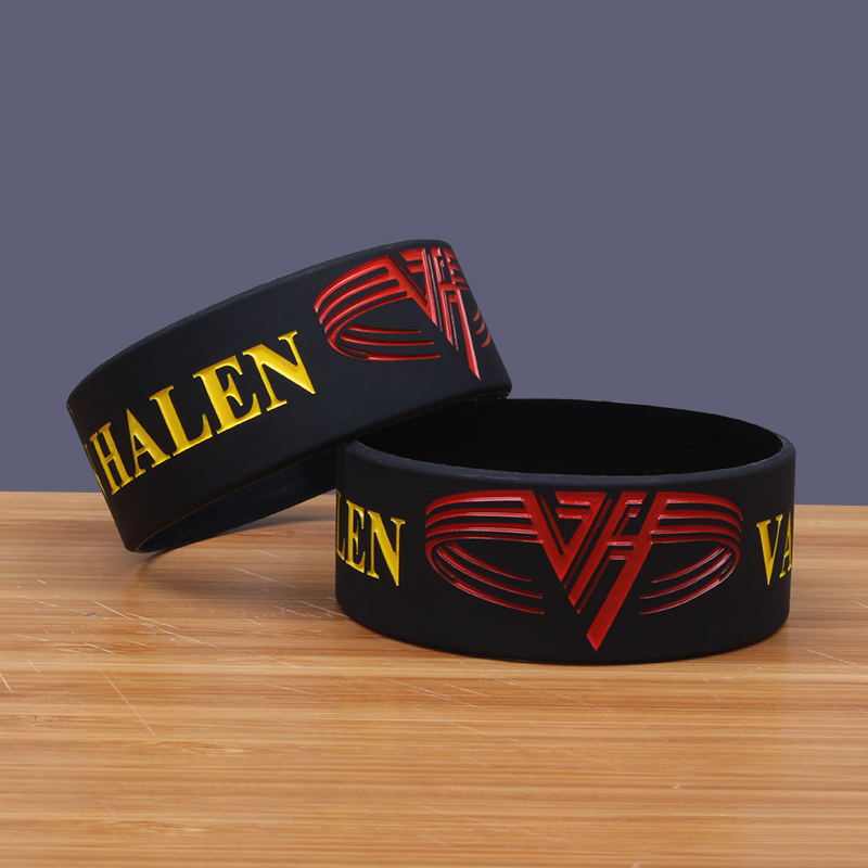 NEW Van Halen Band Silicone Bracelets Heavy Mental Silicon Bileklik Hard Rock Band Classic Rock Silicone Jewelry