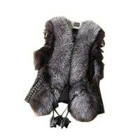 2018 New Fashion Faux Fur Coat Winter Coat Women Waist Coat Fur Women's Fur Jacket Fur Vest For Ladies