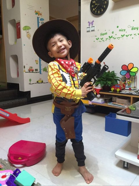 Woody Costume Boy Woody Role Play Cowboy Costume Fancy Dress Cosplay Cloths Free Hat and Gun Halloween Toy Story Children  sc 1 st  Aliexpress & Online Shop Woody Costume Boy Woody Role Play Cowboy Costume Fancy ...