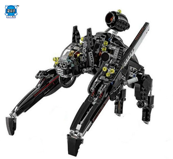DIY Model 775pcs/lot Super Hero Lepins Batman Movie Series The Scuttler Bat Spaceship with 5 Figures Building Blocks Bricks Toys lepin 07056 775pcs super heroes movie blocks the scuttler toys for children building blocks compatible legoe batman 70908
