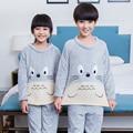 Pijamas de inverno Crianças Lã Macia Quente Flanela Sleepwear Meninas Homewear Loungewear Coral Fleece pijamas Infantis Pijamas de Inverno