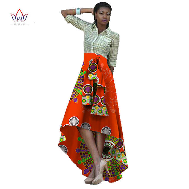 478d7cfd5d placeholder Traditional African Clothing African Print Skirts Womens Bazin  Riche Maxi Skirt Dashiki Print Wax Long African
