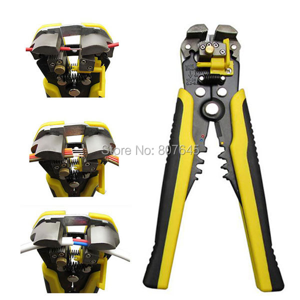 Multi-functional Automatic Cable Wire Stripper plier Self Adjusting Crimper Terminal Tool crimping tool combination plier cutter 5pcs led strip connector 2pin 8mm 10mm l t x shape quick splitter right angle free welding connector for single color led strip