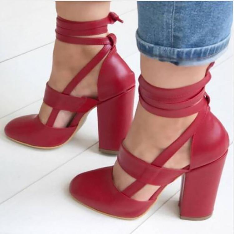 STYLISH Women Sandals Block Heels Black