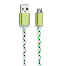 LED Light Micro USB Charger Cable Charging Cord For Samsung