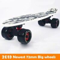72MM big wheels Peny Board 22 Skateboard Complete Backpack mini skate long board griptape Retro Cruiser patins adulto longboard