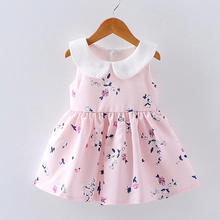 цены на Summer Baby Girl Floral Princess Dress Toddler Infant Girls Sleeveless Dresses Kids Baby Birthday Party Clothes Baby Clothing  в интернет-магазинах