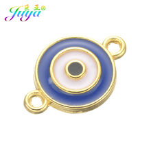 eca584bf5 Juya Jewelry Findings Enamel Greek Evil Eye 2 Loop Charm Connectors  Accessories For Women Earrings Bracelets