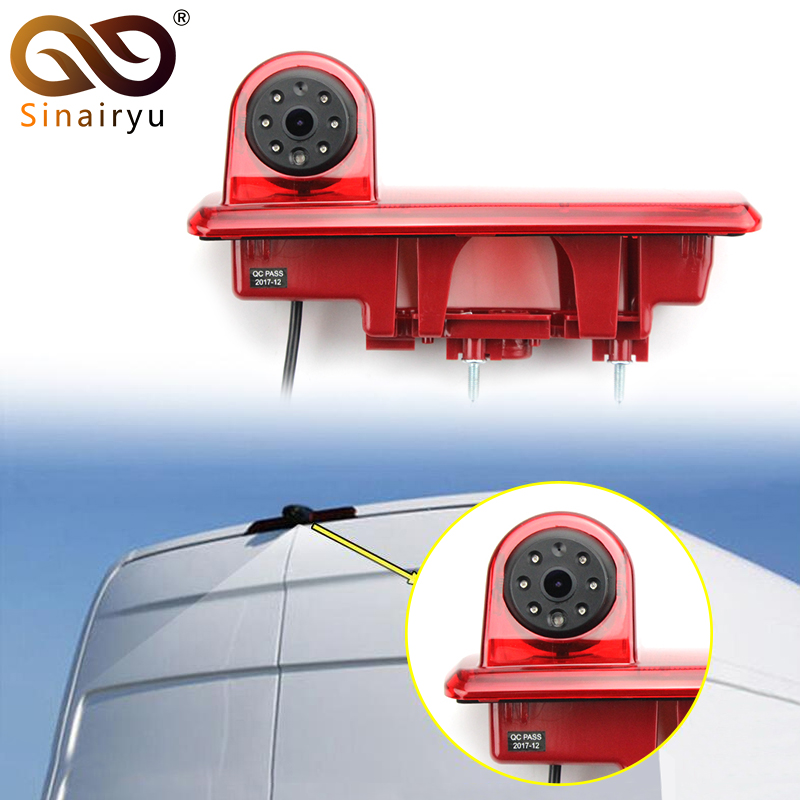 цены Sinairyu HD Night Vision Waterproof Car Brake Light Rear View Camera For Opel Vauxhall Vivaro Renault Traffic CCD Reverse Camera