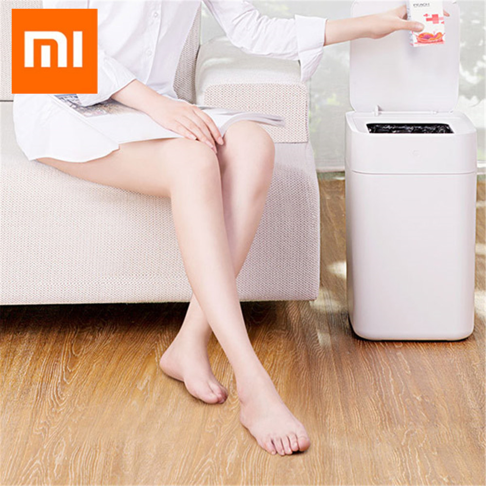 Amiable Original Xiaomi Mijia Townew T1 Smart Trash Can Motion Sensor Auto Sealing Led Induction Cover Trash 15.5l Mi Home Ashcan Bins Home Appliance Parts