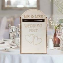 Твердая сосна полностью собранная Персонализированная свадебная открытка почтовая коробка Королевская почта стиль вечерние аксессуары для украшения#23/5