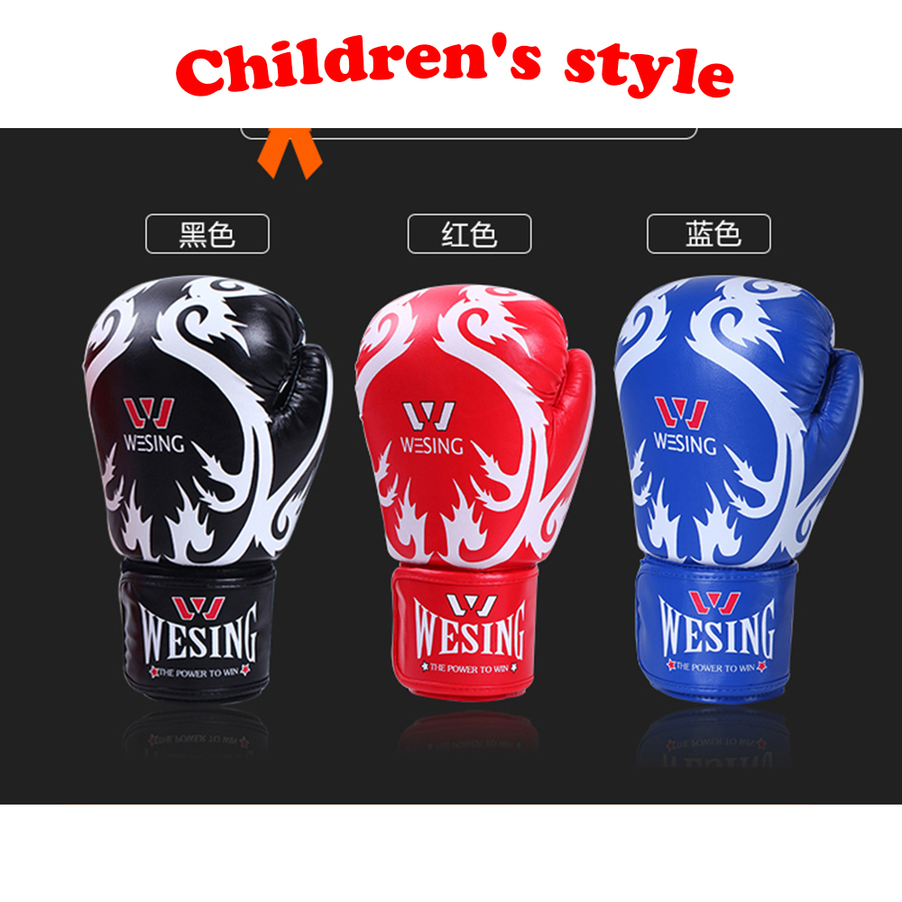 children s boxing font b glove b font 3 colors 600g PU mateial high quality breathable