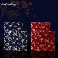 Fabric Sakura Notepad Agenda 2017 Planner Cloth Book Cover Travel Notebook Journal DIY Diary Organizer Gifts